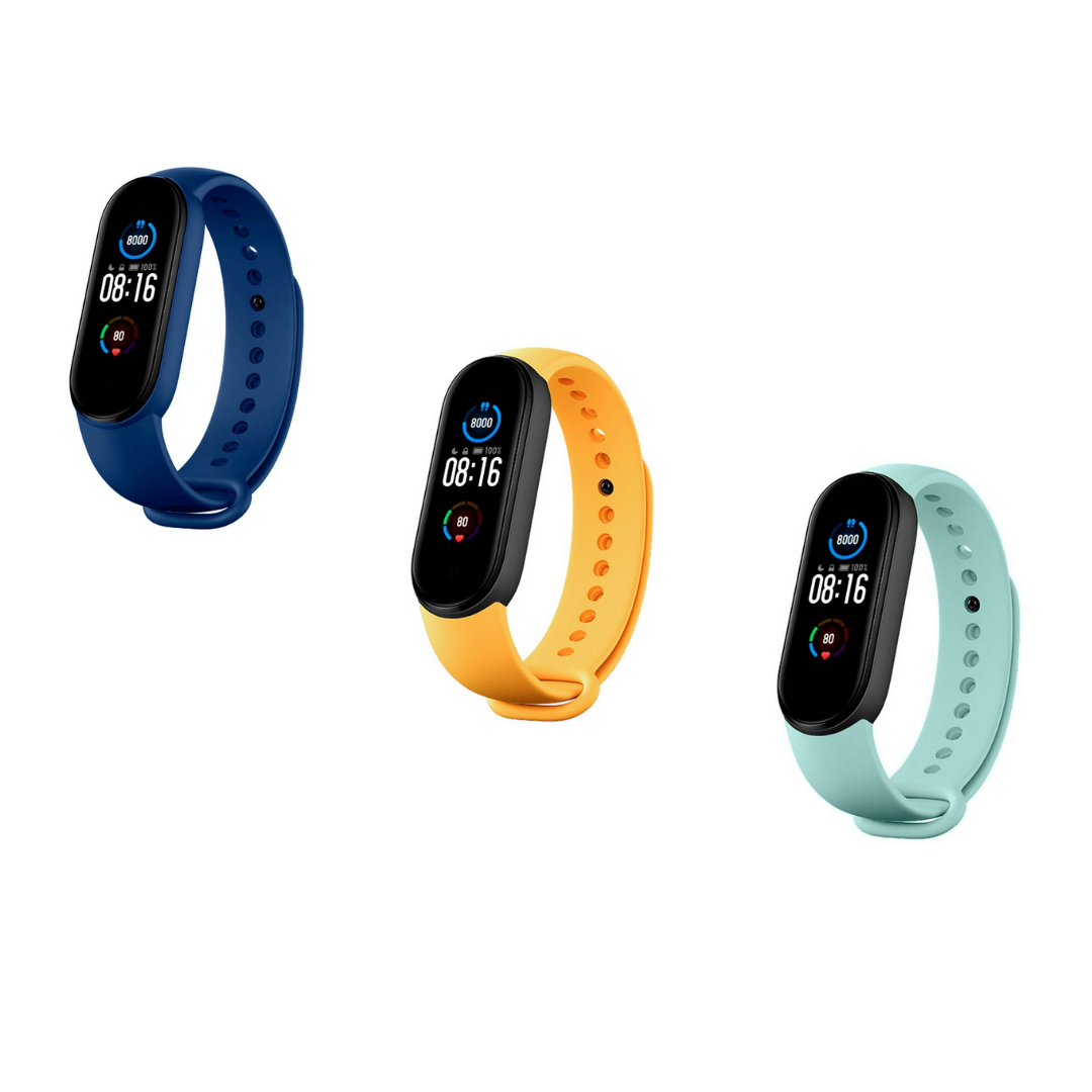 Pack 3 correas Mi Band 5 Azul Oscuro
